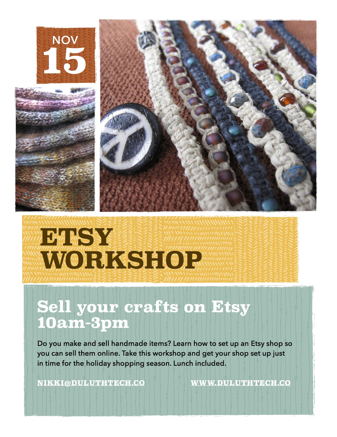 Etsy workshop learn how to sell your handmade crafts on for Selling crafts online etsy