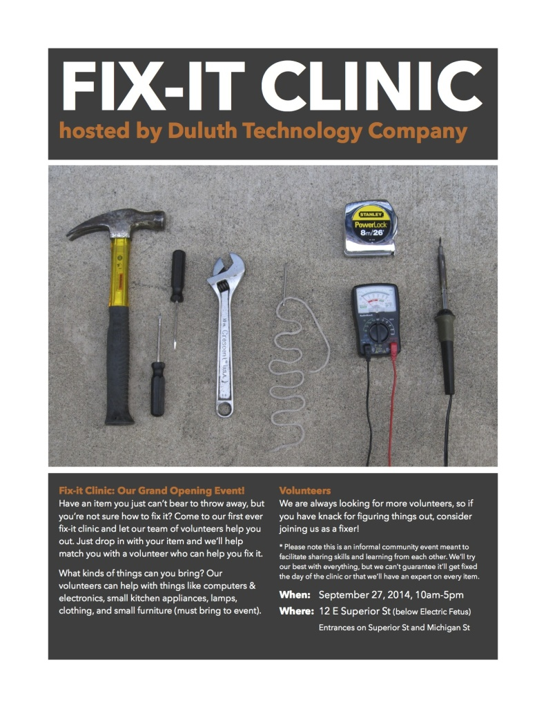 fix-it clinic flyer