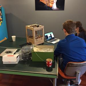 Diagnosing a small 3D printer.